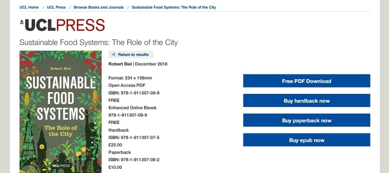 Sustainable Food Systems: The Role of the City   by Robert Biel