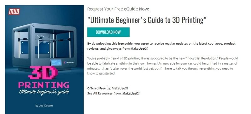 Ultimate Beginner's Guide to 3D Printing by MakeUseOf