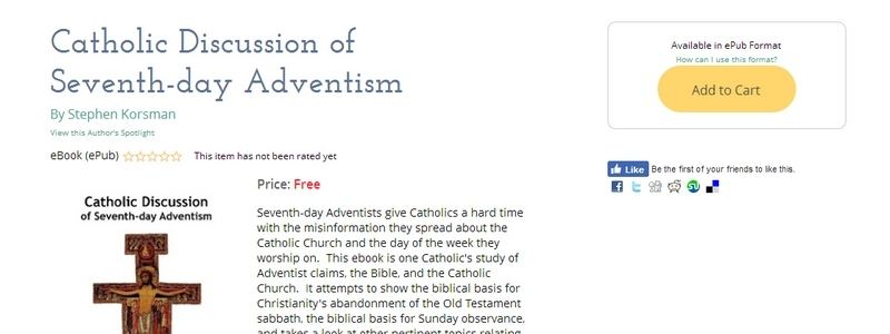Catholic Discussion of Seventh-day Adventism by Stephen Korsman