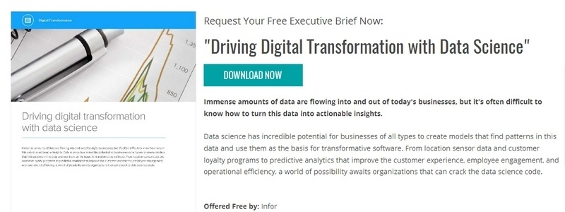 Driving Digital Transformation with Data Science by Infor