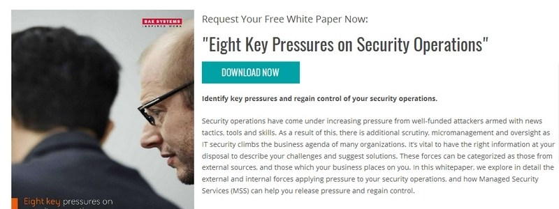 Eight Key Pressures on Security Operations by BAE Systems