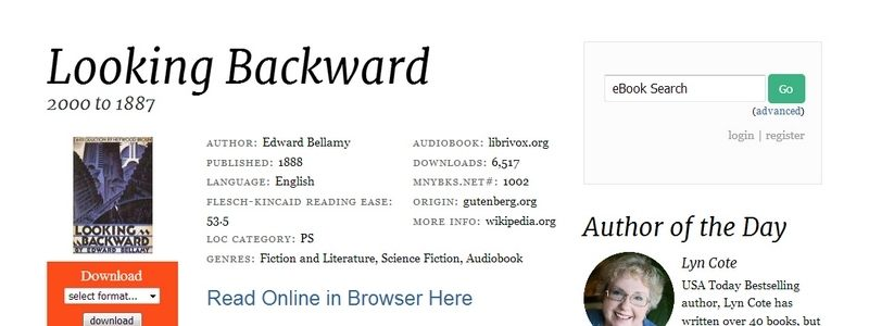Looking Backward: From 2000 to 1887 by Edward Bellamy