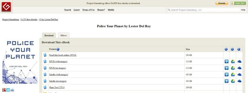 Police Your Planet by Lester del Rey