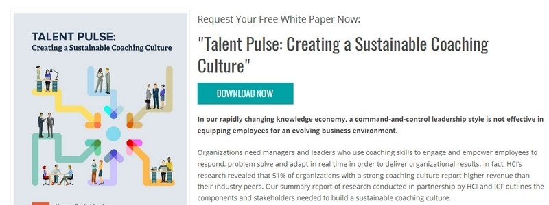 Talent Pulse: Creating a Sustainable Coaching Culture by Human Capital Institute