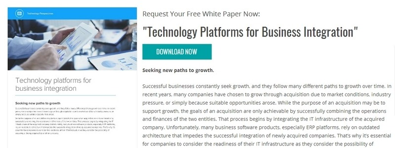 Technology Platforms for Business Integration by Infor