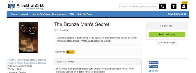 The Bronze Man's Secret by N. K. Aning