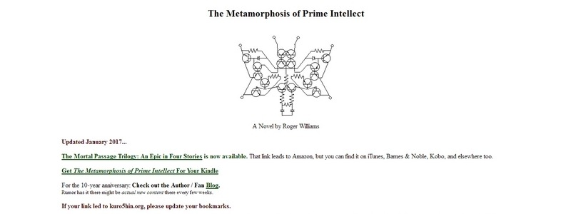 The Metamorphosis of Prime Intellect by Roger Williams