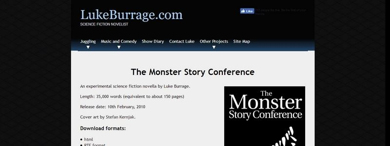 The Monster Story Conference by Luke Burrage