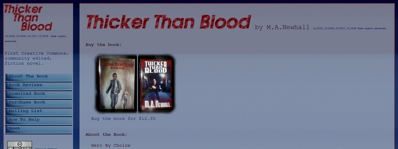 Thicker Than Blood by M. A. Newhall