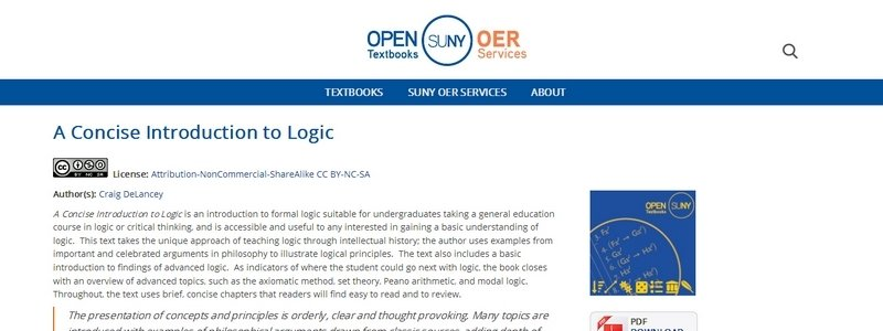 A Concise Introduction to Logic by Craig DeLancey