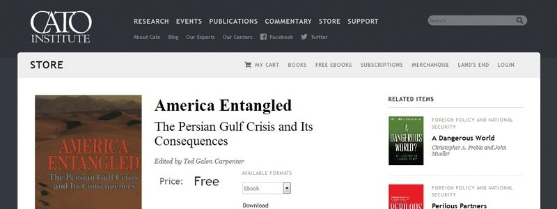 America Entangled: The Persian Gulf Crisis and Its Consequences by Ted Galen Carpenter