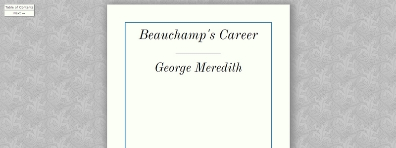Beauchamp's Career by George Meredith