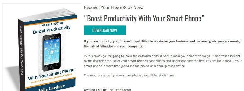 Boost Productivity With Your Smart Phone by The Time Doctor