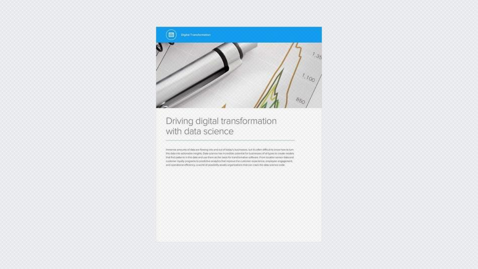Driving Digital Transformation with Data Science
