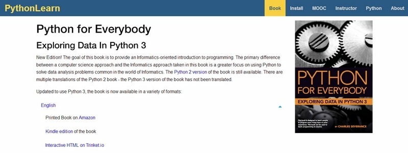 Python for Everybody: Exploring Data In Python 3 by Charles R. Severance
