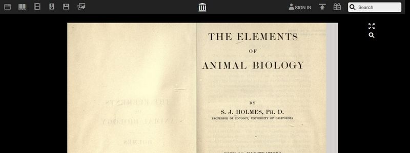 The Elements of Animal Biology by Samuel J. Holmes