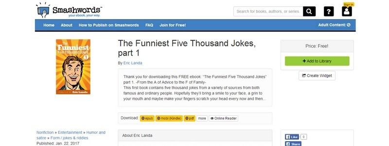 The Funniest Five Thousand Jokes, part 1 by Eric Landa