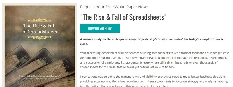 The Rise & Fall of Spreadsheets by BlackLine Systems, Inc.