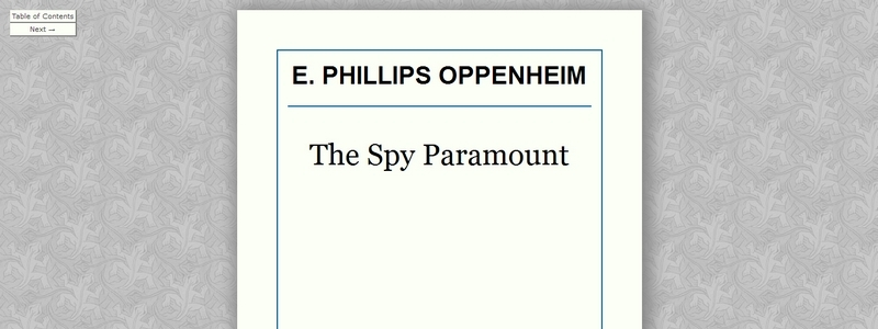 The Spy Paramount by E. Phillips Oppenheim