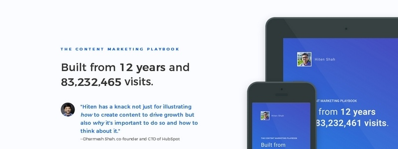 Content Marketing Playbook by Hiten Shah