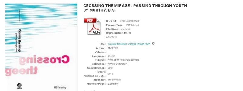 Crossing the Mirage - Passing through Youth by BS Murthy