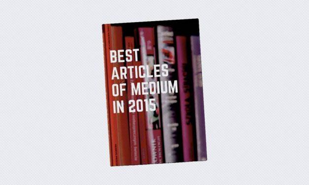 Best Articles of Medium in 2015