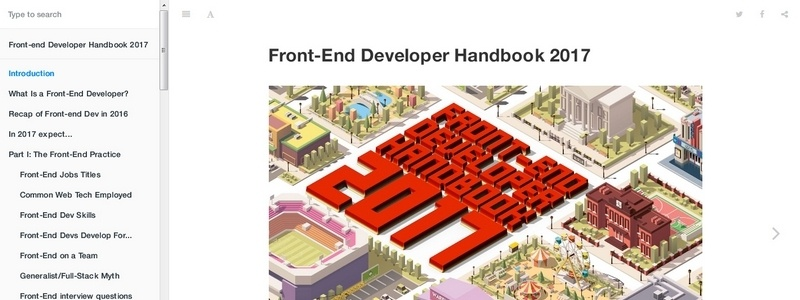 Front-End Developer Handbook 2017 by Cody Lindley