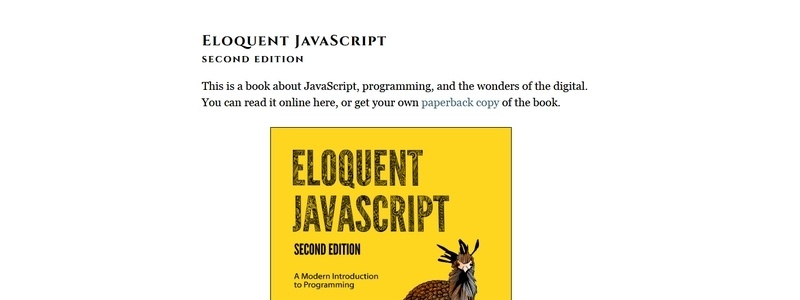 Eloquent JavaScript 2nd Edition: A Modern Introduction to Programming by Marijin Haverbeke