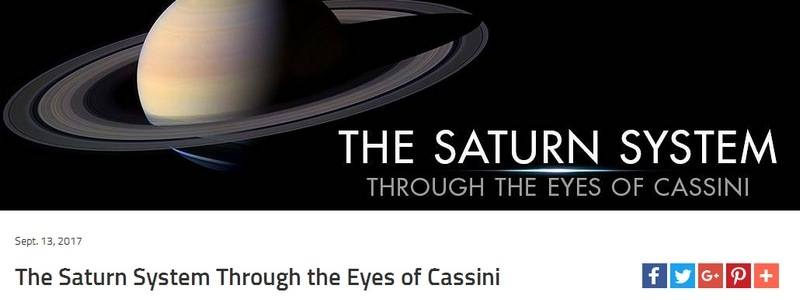 The Saturn System Through the Eyes of Cassini by Nasa