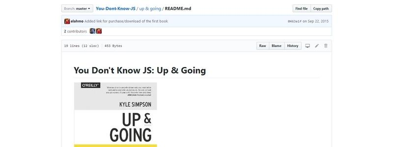 You Don't Know JS: Up & Going by Kyle Simpson