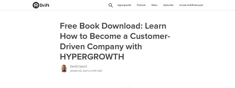 Hyper Growth - Learn How to Become a Customer-Driven Company by David Cancel