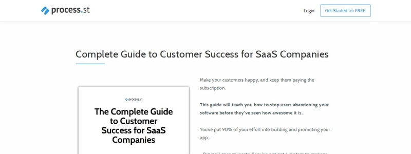 Complete Guide to Customer Success for SaaS Companies by Process.st