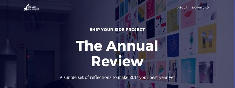 The Annual Review: A Hands-On Workbook by Jason Shen