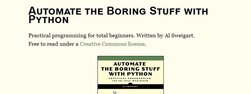 Automate the Boring Stuff with Python by Al Sweigart