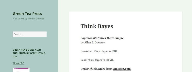 Bayesian Statistics Made Simple by Allen B. Downey
