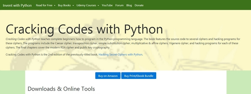 Cracking Codes with Python 2nd Edition by Al Sweigart