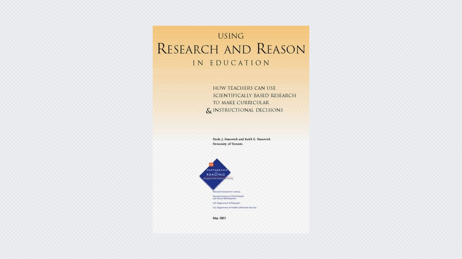 Using Research And Reason In Education