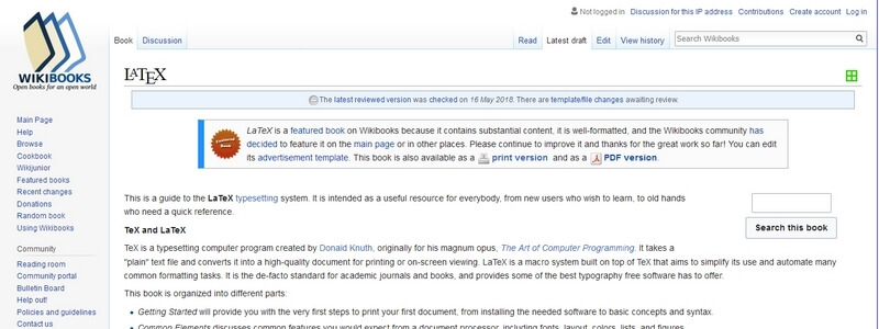 Latex by Wikibooks