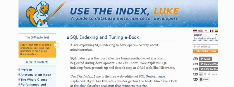 SQL Indexing and Tuning by Markus Winand