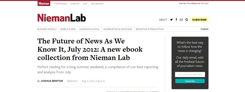 The Future of News As We Know It by Nieman Journalism Lab