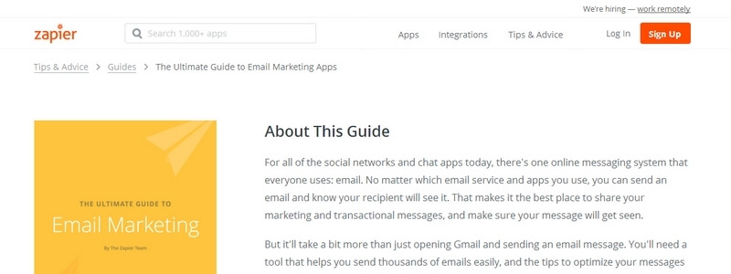 The Ultimate Guide to Email Marketing by The Zapier Team