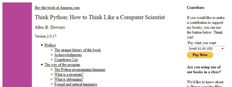 Think Python: How to Think Like a Computer Scientist by Allen B. Downey