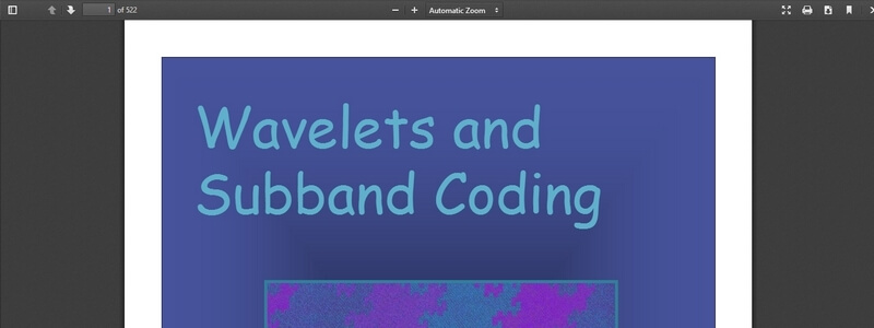Wavelets and Subband Coding  by Martin Vetterli and Jelena Kovacevic