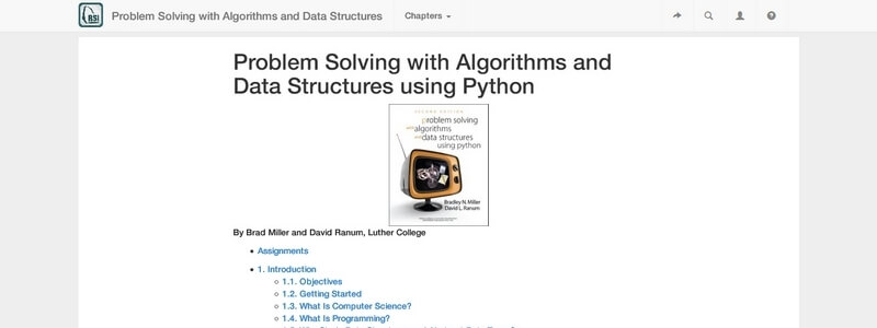 Problem Solving with Algorithms and Data Structures using Python by Brad Miller and David Ranum
