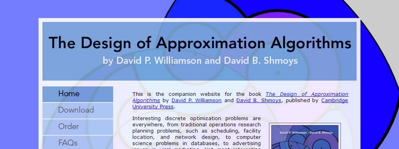 The Design of Approximation Algorithms by David P. Williamson, David B. Shmoys