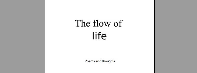 The Flow of Life by Liis Lõhmus