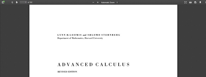 Advanced Calculus: Revised Edition by Lynn H. Loomis, Shlomo Sternberg