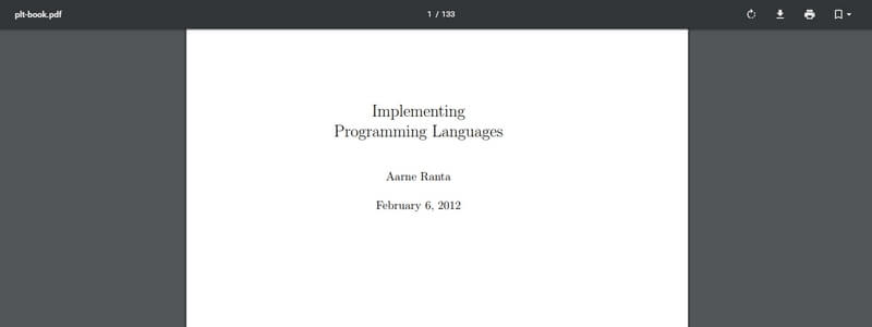 Implementing Programming Languages by Aarne Ranta