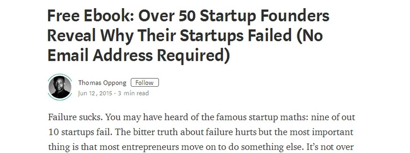 Over 50 Startup Founders Reveal Why Their Startups Failed by Thomas Oppong
