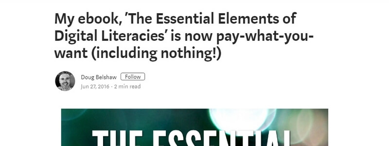 The Essential Elements of Digital Literacies by Doug Belshaw